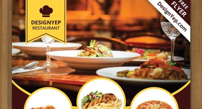 Free-Restaurant-Flyer-PSD-Template