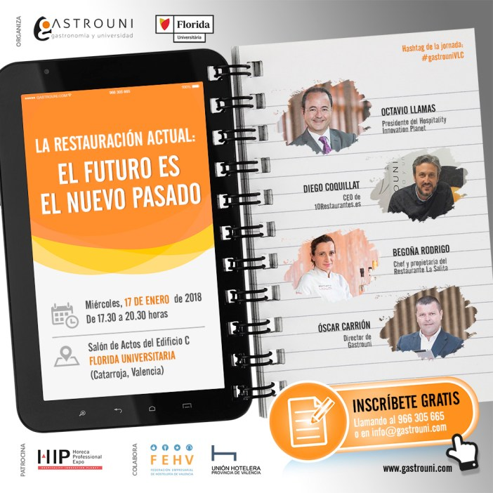 Gastrouni un nouvel événement sur l'avenir de la restauration espagnole 17 Janvier à Valence