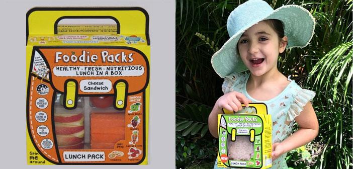 Alizah Maryanka de Packs Foodie, sauve préemballé Boîte à lunch beaucoup de temps précieux pour tous les parents qui tous les matins sont impliqués dans une situation similaire.