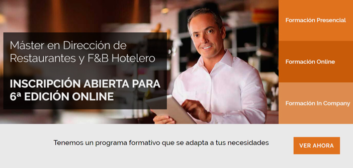I remember a comment from one of the students who formed us in the Master in Restaurants & F&B Hotelero of saying Gastrouni: before starting the Master had a restaurant and was hotelier, Now I have a business and I am an entrepreneur.