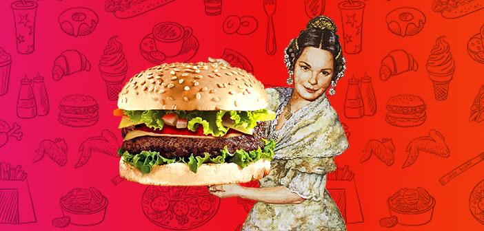 La hamburguesa fallera, protagonista en la Red
