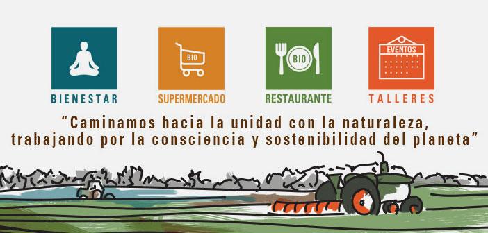Voici un supermarché bio sont intégrés, un restaurant bio, ateliers, thérapies naturelles, y compris les boîtes avec des recettes maison bio et les ingrédients biologiques.