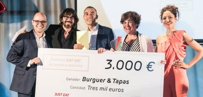 The winners of the first edition of the awards JUST EAT