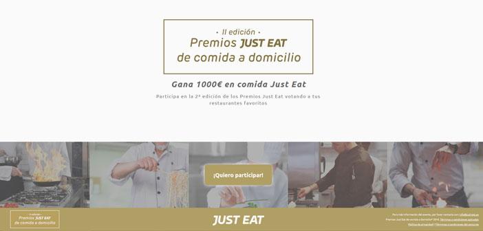 Just Eat a annoncé la deuxième édition des Prix en Espagne Livraison à. L'objectif de ces prix est de reconnaître l'effort et donner une visibilité aux restaurants offrant leur maison de nourriture pour adapter au nouveau consommateur numérique. Les utilisateurs peuvent désormais voter pour leur création préférée dans le microsite premiosjusteat.com