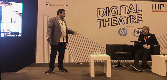 Dario Mendez explained how ElTenedor has become an ally of the restaurants in improving its management, while he is participating in the #TeatroDigital who coordinated @diegocoquillat during # expohip2018.