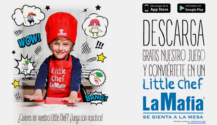 The customer can also check the level of loyalty that corresponds, according to their degree of loyalty, but also access exclusive promotions and sweepstakes, and find your nearest restaurant or download the game 'Mafia Little Chef'.