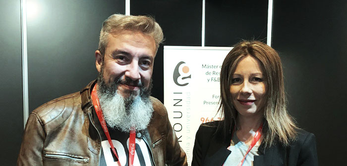 Oskar Garcia and Mari Carmen Mas Food Fighters are in the booth Gastrouni in ExpoHip 2018