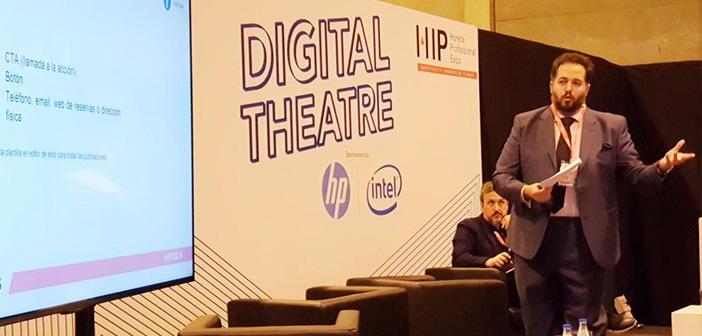 Sánchez también participó en #ExpoHip2018. Fue parte del #TeatroDigital que dirigió @diegocoquillat durante los tres días de ese gran evento de #Innovación del sector Horeca en Madrid.