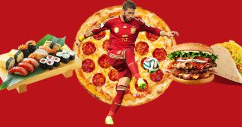 La comida a domicilio triunfa con la participación de España en el Mundial de fútbol