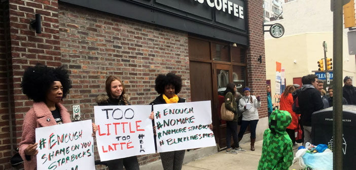 After the murder of Trevor Martin 2012 and Eric Garner a couple of years later, Starbucks offered vessels with the slogan 'Race Together' inciting consumers to engage in discussions on race and racism. No lasted an assault because social networks saw these initiatives as an attempt to capitalize on the tragedy of black men.