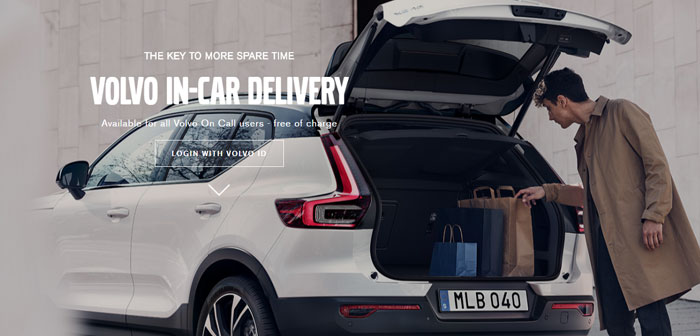 Volvo has the In-Car Delivery system that allows drivers of these cars receive in your trunk ski equipment, clothes, electronics or food products, as does the grocery Mat; as long as they are in Stockholm.