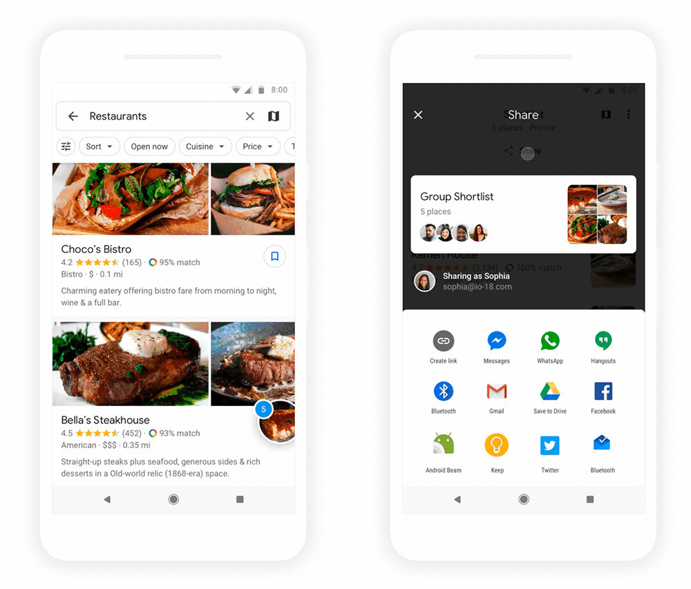 Google Maps launches a new feature to choose a restaurant