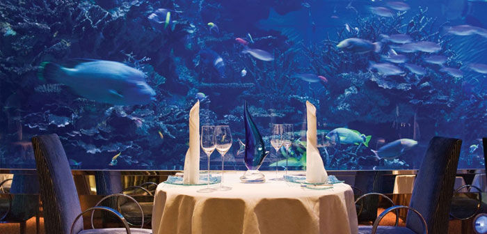 One of them is in the United Arab Emirates, specifically in the city of Dubai. Nathan Outlaw at Al Mahara restaurant is a local ultra-luxurious hotel located in the iconic Burj Al Arab.