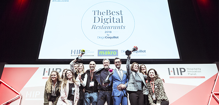 Quique Dacosta, Starbucks Spain and the Silk Restaurant & Soy de Madrid were the winners of the awards The Best Digital Restaurants 2018 the best chef or cook digital, the best chain, group or franchise restaurants and the best digital independent restaurant, respectively.