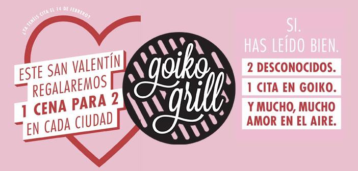 Goiko Frill ha realizado una promoción a través de Instagram Stories en la que sorteaba 12 cenas para San Valentin. Los ganadores serán una pareja de desconocidos que disfrutarán de una cita a ciegas
