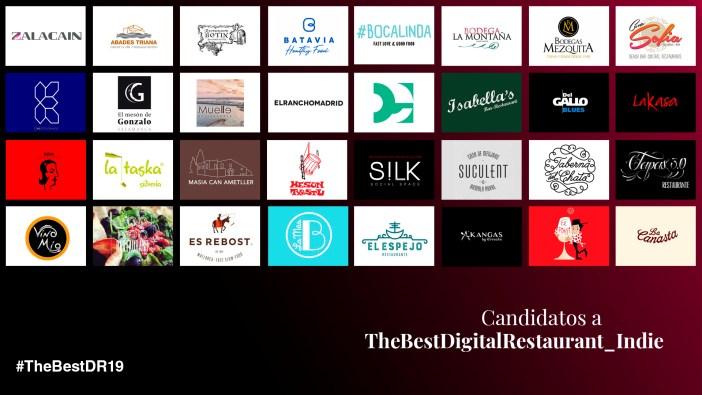 Nominados un TheBestDigitalRestaurant_Indie 2019