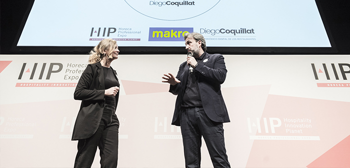 Eva and Diego Ballarin Coquillat in TheBestDigitalRestaurant awards 2018.