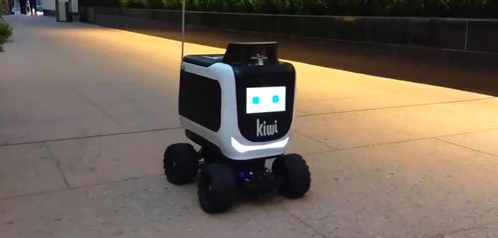 Por ejemplo, el pequeño KiwiBot es el encargado de hacer el último tramo, discurriendo para ello por las aceras de la ciudad en compañía de los transeúntes. Se trata de un pequeño módulo rodante dotado de un chasis que recuerda al de un todoterreno en miniatura.