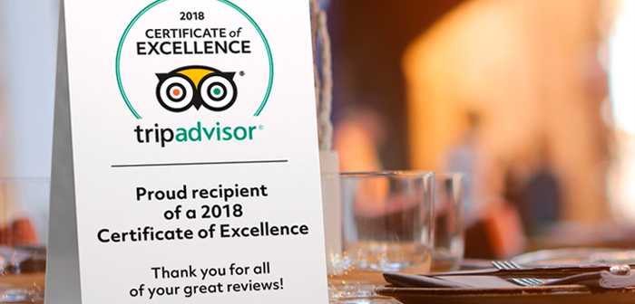 """Place cards or warnings about the presence restaurant TripAdvisor. Apart from the door sticker """"Evaluated TripAdvisor 'page offered by restaurant reviews, other alternatives that work well is placing cards on tables or posters or framed Certificate of Excellence, if it has achieved one."""