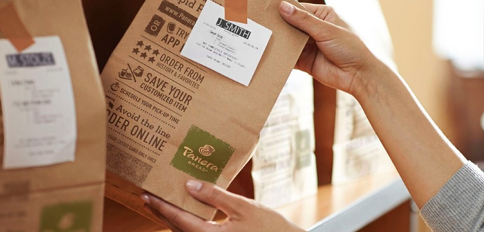 Panera has been maximized end. Using mobile app own company, the customer can pay in advance for the service, appear in the shop, pick up your order from a shelf and not cross a word with the staff of the establishment.