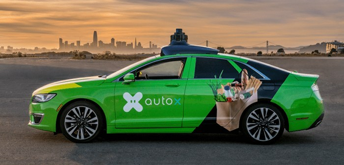 AutoX, autonomous cars based on artificial intelligence for home delivery restaurants AutoX, autonomous cars based on artificial intelligence for home delivery restaurants