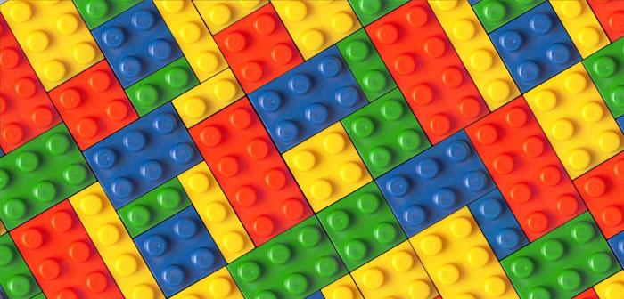 Los bloques de Lego se usaron para crear una estructura comestible