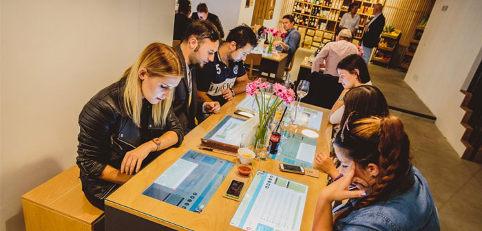 Diners can expect using the multimedia capabilities of these tablets built into the tables.