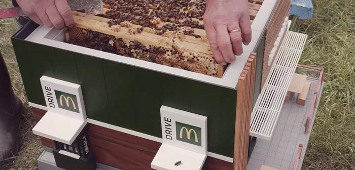 Surnommé le McHive, Ce restaurant de McDonald conçu par NORD DDB est inspirée des restaurants nordiques qui ont ruchers sur son toit pour lancer un appel à l'action: protéger et préserver nos abeilles.