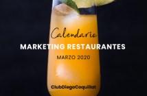 Marzo de 2020: calendario de acciones de marketing para restaurantes