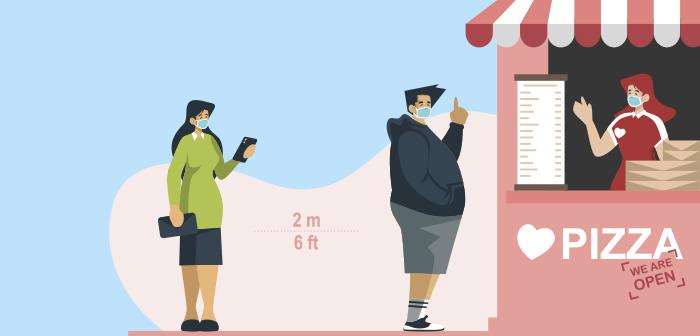 Contrôlez les files d'attente et la distanciation sociale: le nouvel objectif de la technologie de la restauration