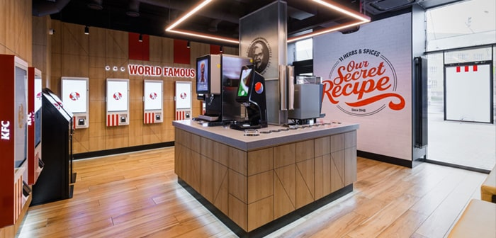 KFC's new restaurant has nothing to envy those that operate in a more traditional way.