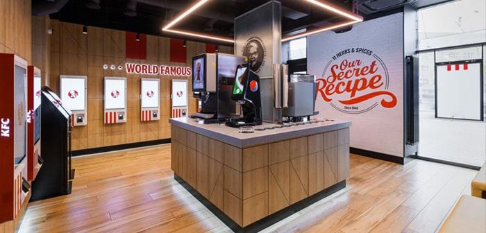 El nuevo restaurante de KFC no tiene nada que envidiar a aquellos que operan de forma más tradicional.