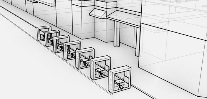 Los bloques modulares son un concepto que busca deconstruir los iglús y casetas prefabricados para ofrecer una solución versátil y adaptable para los espacios exteriores del restaurante.