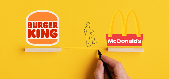 Covid-19 gets Burger King to recommend McDonald's
