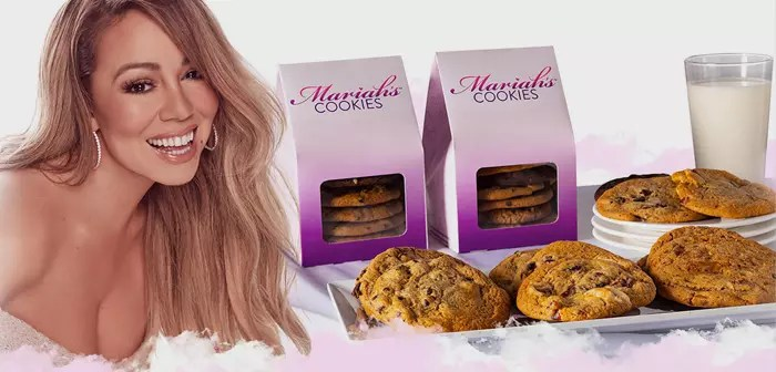 A) Yes, at Mariah Carey's Cookies pastry and pop aesthetics reign. Triple Chocolate Cookies are featured alongside festive options like Red Velvet Cookies for Valentine's.