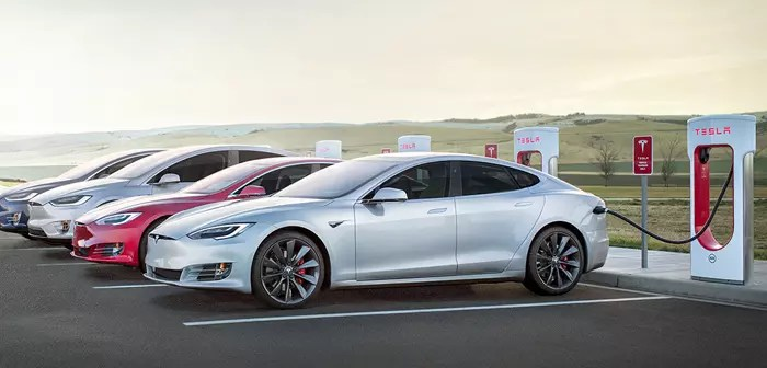 Tesla's superchargers are charging stations for the company's electric vehicles. Unlike homemade electrical outlets, these stations have anchors that operate at a high amperage, thus allowing the car to refill its battery in record time.