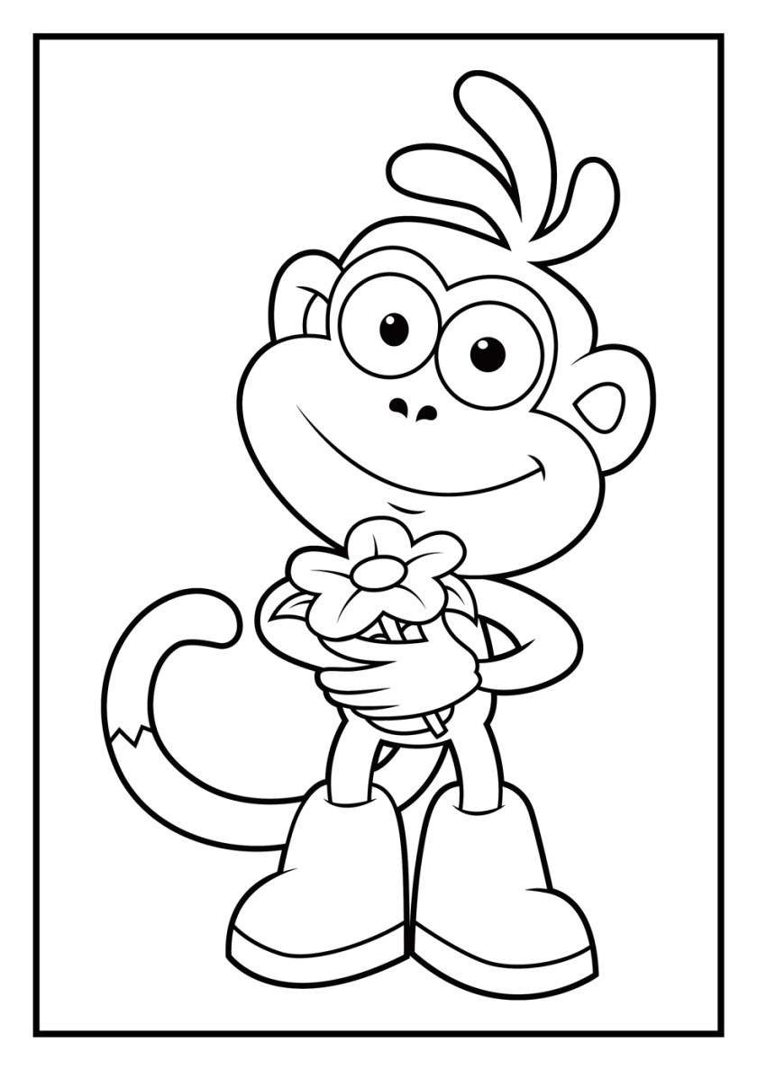 dora coloring pages  diego coloring pages