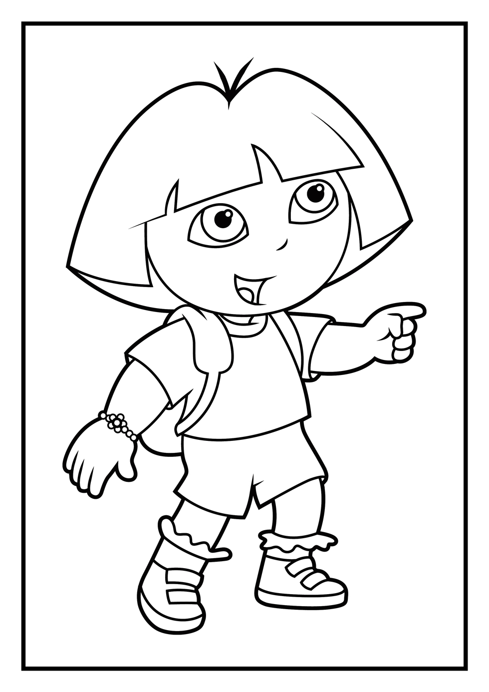 Dora Coloring Pages Diego
