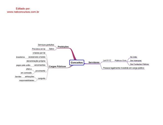 Mapa Mental de Leis - 8.112/90 - Conceitos