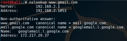 nslookup - www.gmail.com