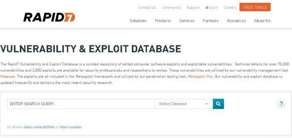 Rapid7 - Metasploit Module Database