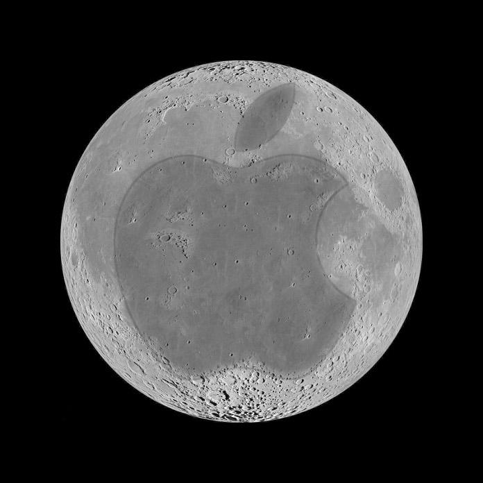Apple será a primeira marca da história a ser estampada na Lua