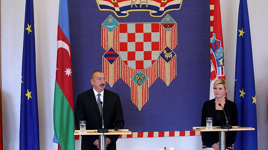 Kitarovic: Hırvatistan, Azerbaycan'ın dostu olmaya devam edecek