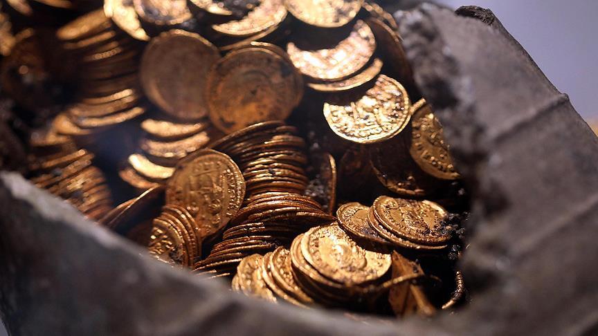 Roma İmparatorluğu dönemine ait altın paralar bulundu