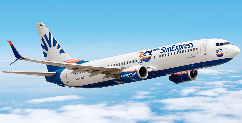 SunExpress dış hat uçuşlarına başladı