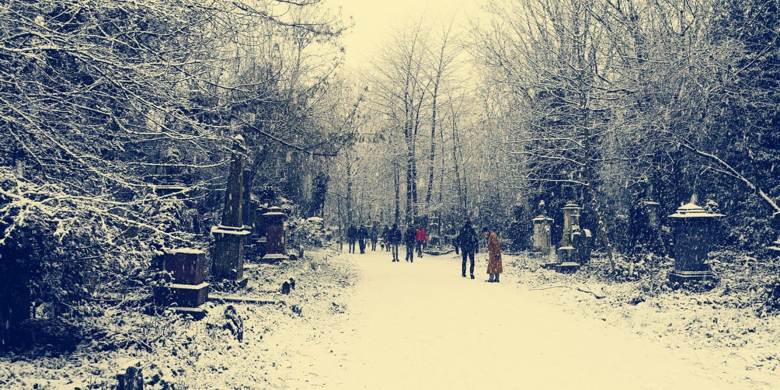 Londra'dan muhteşem kar manzarası