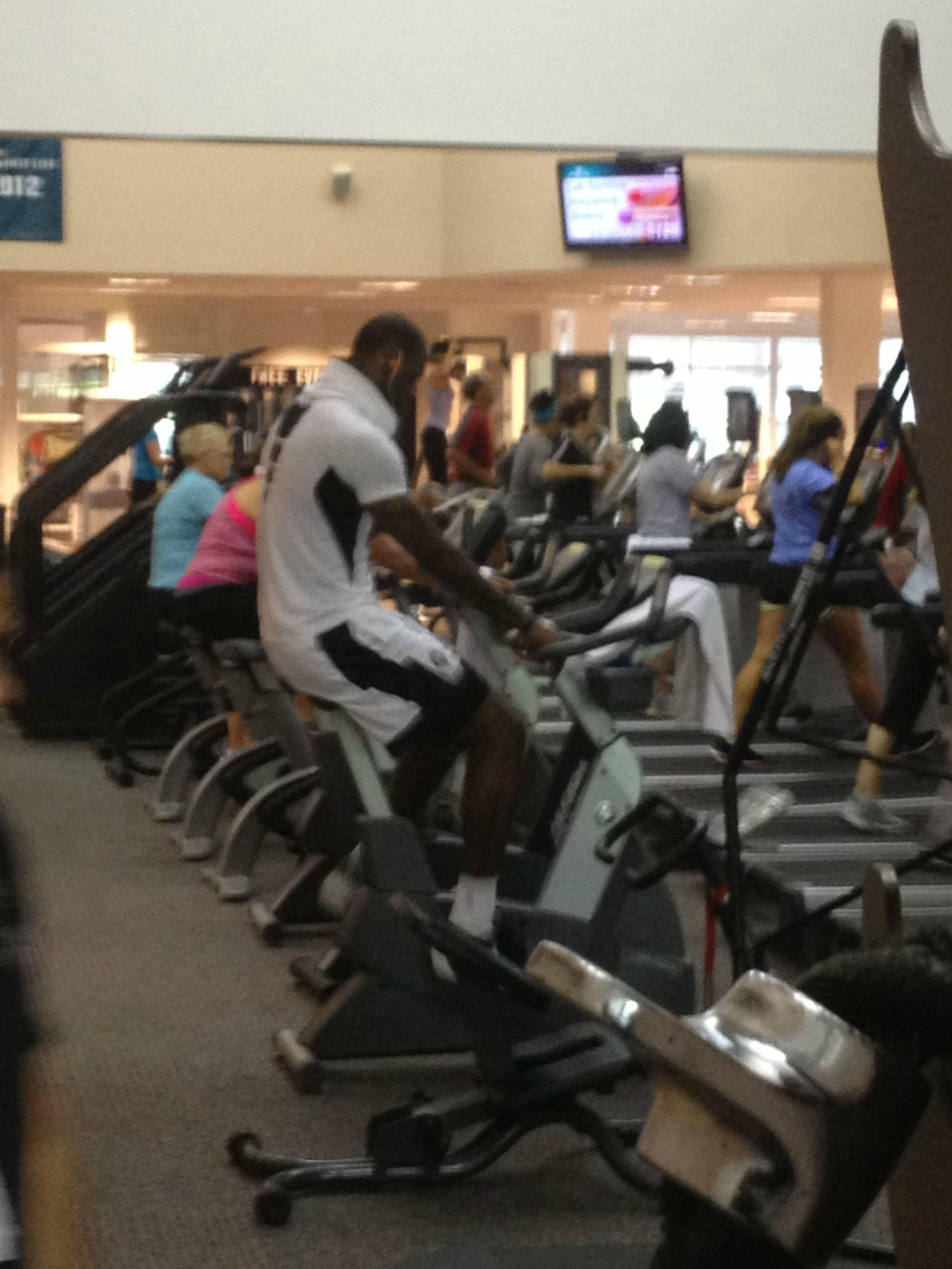 LeBron James Working Out At Akron Gym