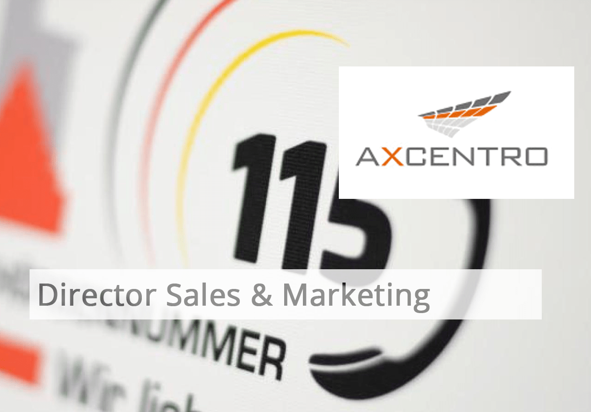 Axcentro Director Sales and Marketing Axel Janßen