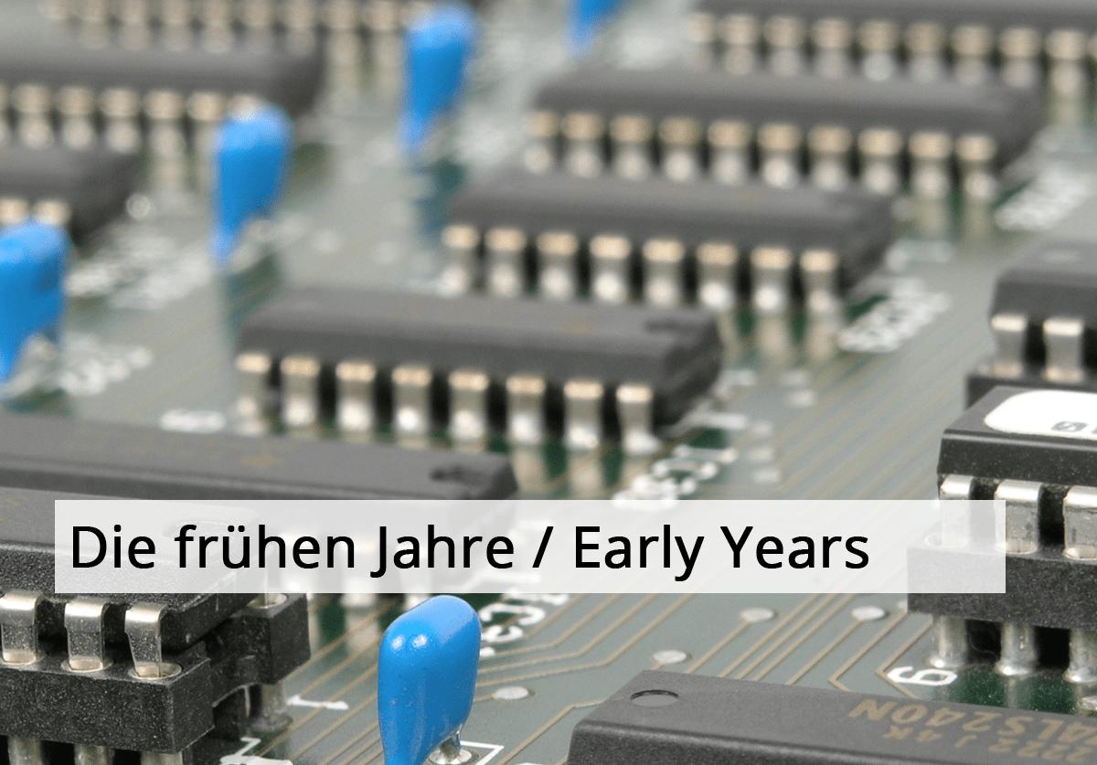 Vertrieb Produktmarketing Axel Janßen / Die frühen Jahre / Early Years