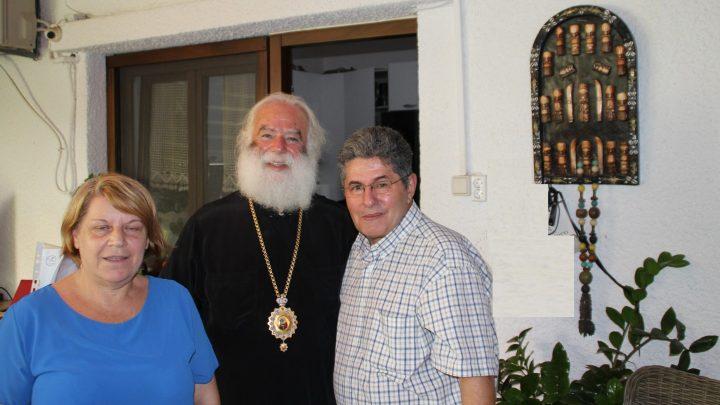Ο πρόεδρος Γεώργιος Μοσκοβίτης και η Γ. Γραμματέας και υπευθύνη τύπου Μαρία Πολάτου συναντήθηκαν με τον Πατριάρχη Αλεξανδρείας & Πάσης Αφρικής κ.κ. Θεόδωρος Β